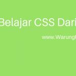 Pengenalan Dasar CSS : Coding Dasar CSS